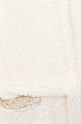Детский хлопковый халат LA PERLA бежевого цвета, арт. 55240/2A-6A   Фото 3
