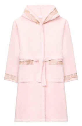 Детский хлопковый халат LA PERLA розового цвета, арт. 55240/2A-6A | Фото 1