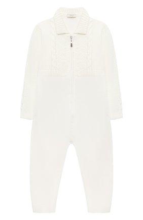 Детский шерстяной комбинезон BABY T белого цвета, арт. 20AI031TZ/1M-12M | Фото 1