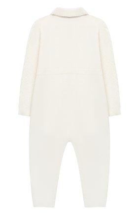 Детский шерстяной комбинезон BABY T белого цвета, арт. 20AI031TZ/1M-12M | Фото 2
