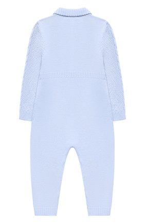 Детский шерстяной комбинезон BABY T голубого цвета, арт. 20AI031TZ/1M-12M | Фото 2