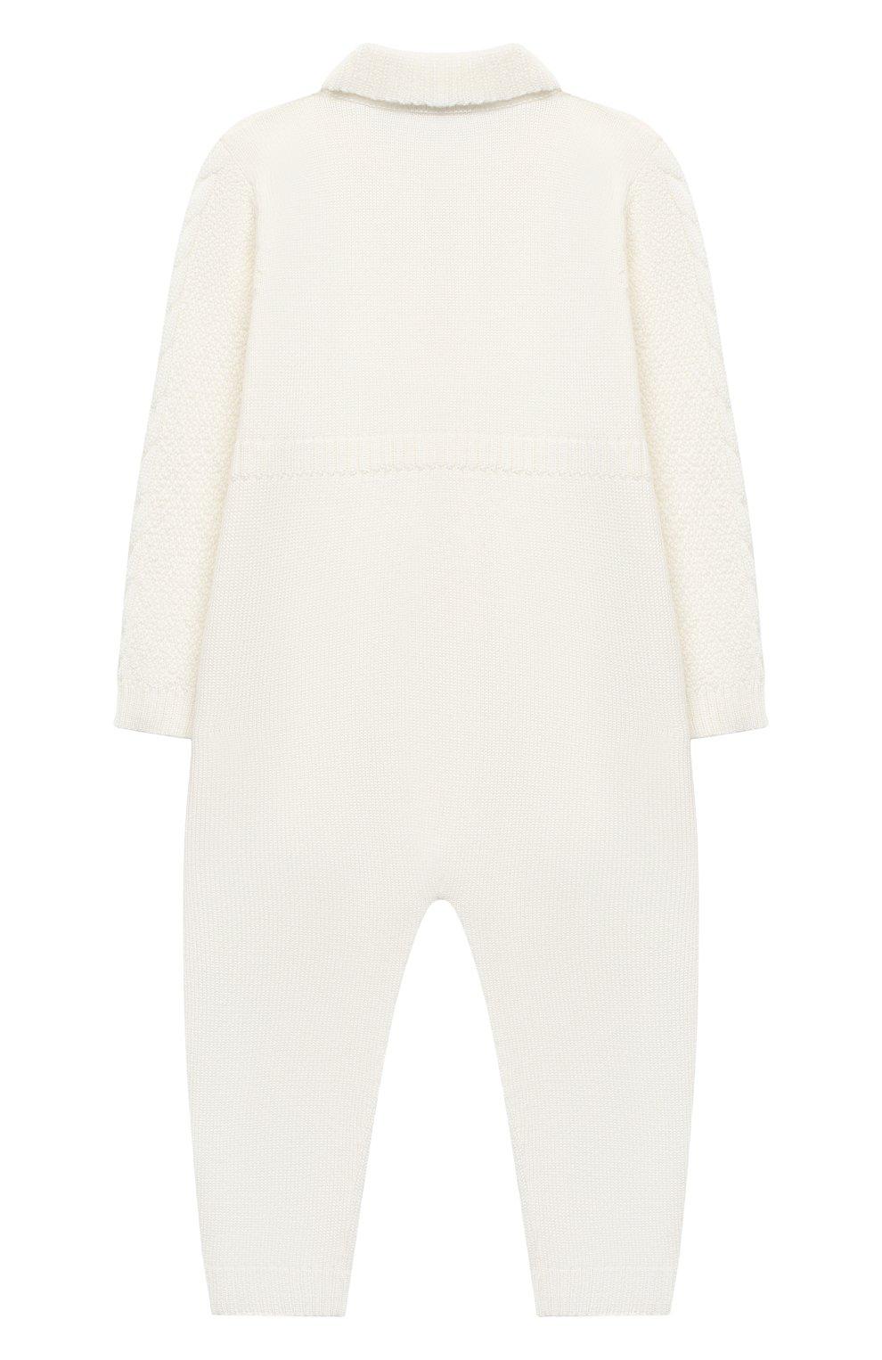 Детский шерстяной комбинезон BABY T белого цвета, арт. 20AI031TZ/18M-3A   Фото 2