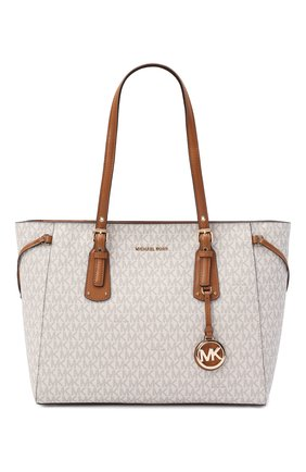 Женский сумка-тоут voyager medium MICHAEL MICHAEL KORS бежевого цвета, арт. 30F8GV6T2B | Фото 1
