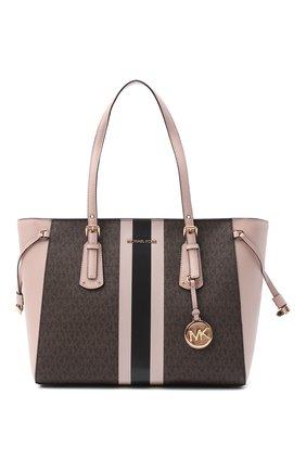 Женский сумка-шопер voyager MICHAEL MICHAEL KORS розового цвета, арт. 30T0GV6T2B | Фото 1