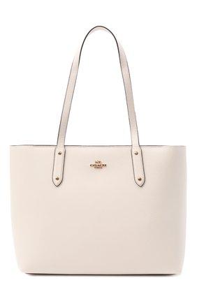 Женский сумка-тоут central COACH белого цвета, арт. 69424 | Фото 1