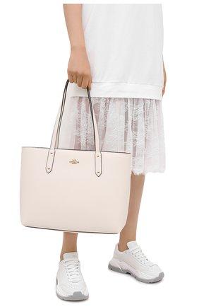 Женский сумка-тоут central COACH белого цвета, арт. 69424 | Фото 2
