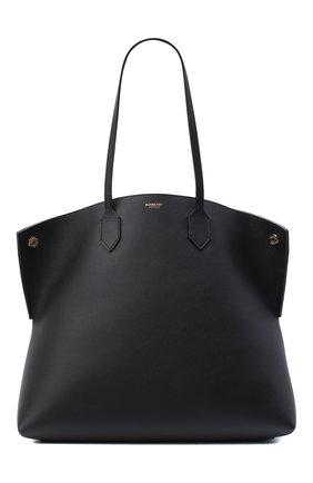 Женский сумка-шопер society BURBERRY черного цвета, арт. 8032163 | Фото 1