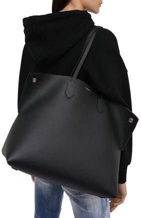 Женский сумка-шопер society BURBERRY черного цвета, арт. 8032163 | Фото 2