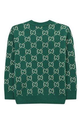Детский шерстяной пуловер GUCCI зеленого цвета, арт. 615411/XKBD7 | Фото 2