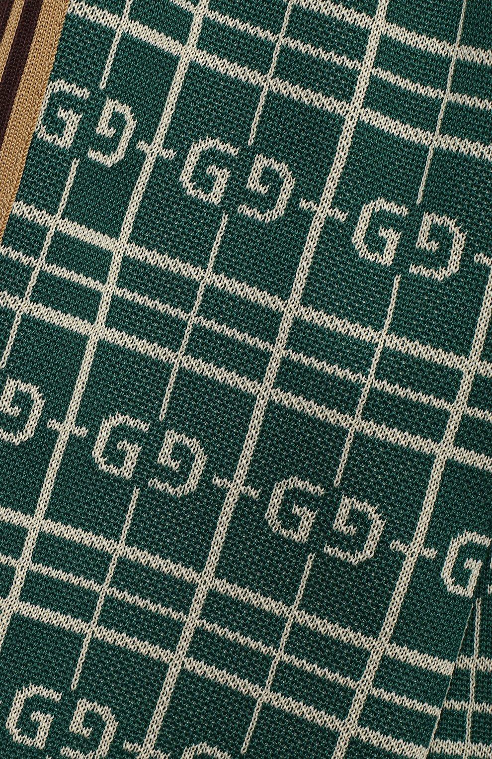 Детские хлопковые джоггеры GUCCI зеленого цвета, арт. 626307/XJCPK | Фото 3