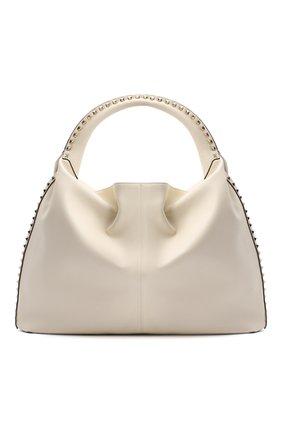 Женская сумка valentino garavani rockstud VALENTINO бежевого цвета, арт. UW2B0H07/EUI | Фото 1