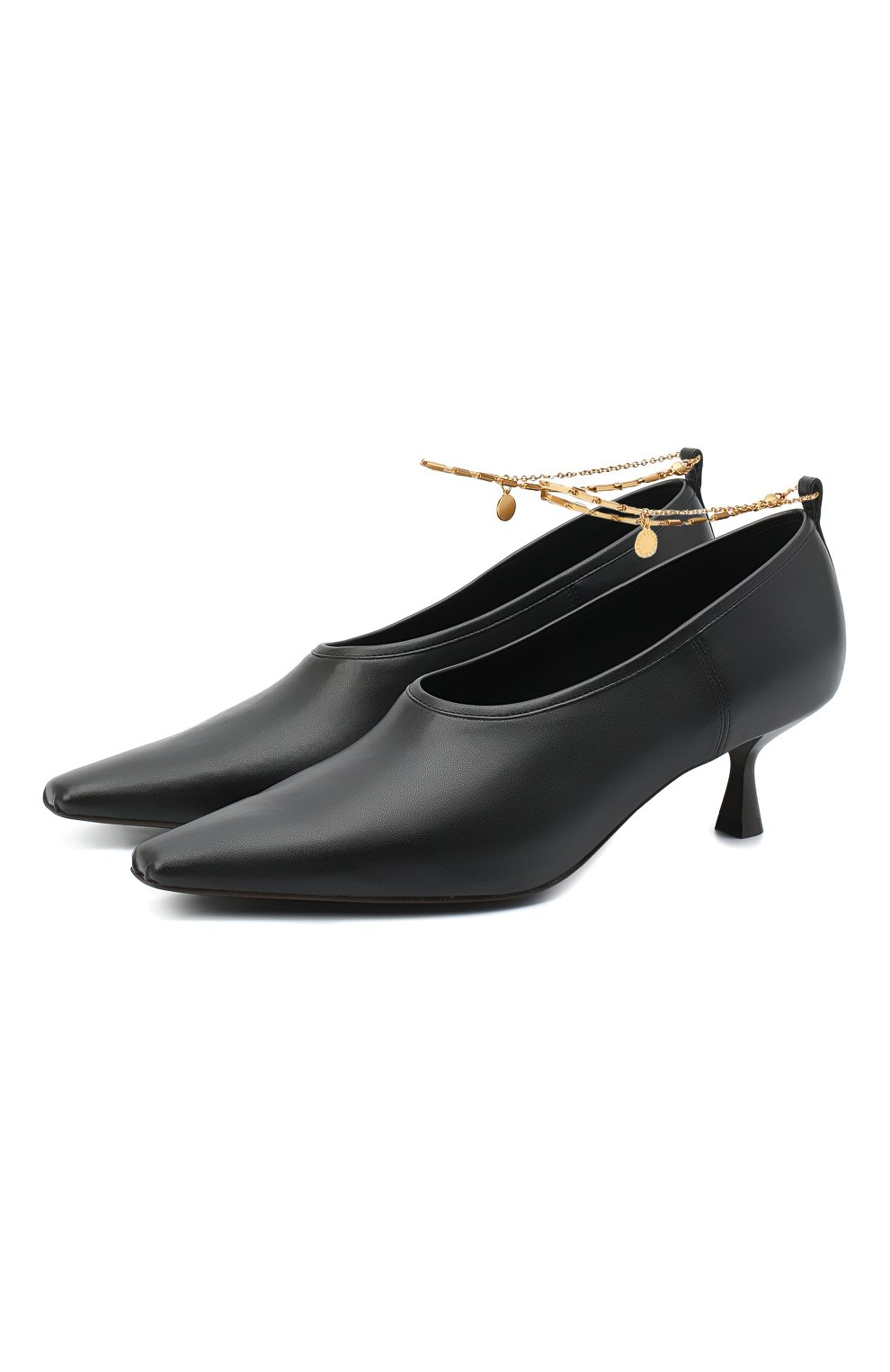 Женские туфли mid heel pump STELLA MCCARTNEY черного цвета, арт. 800227/W0YG0 | Фото 1