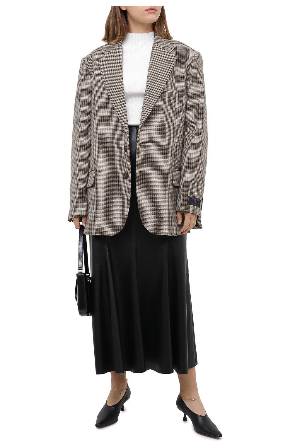 Женские туфли mid heel pump STELLA MCCARTNEY черного цвета, арт. 800227/W0YG0 | Фото 2