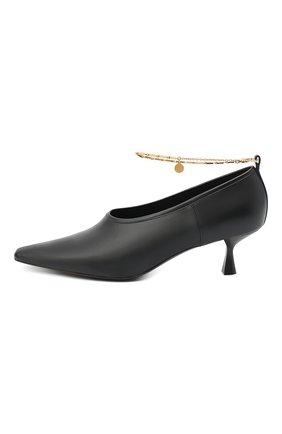 Женские туфли mid heel pump STELLA MCCARTNEY черного цвета, арт. 800227/W0YG0 | Фото 3