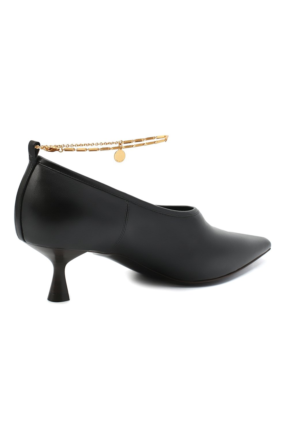 Женские туфли mid heel pump STELLA MCCARTNEY черного цвета, арт. 800227/W0YG0 | Фото 4