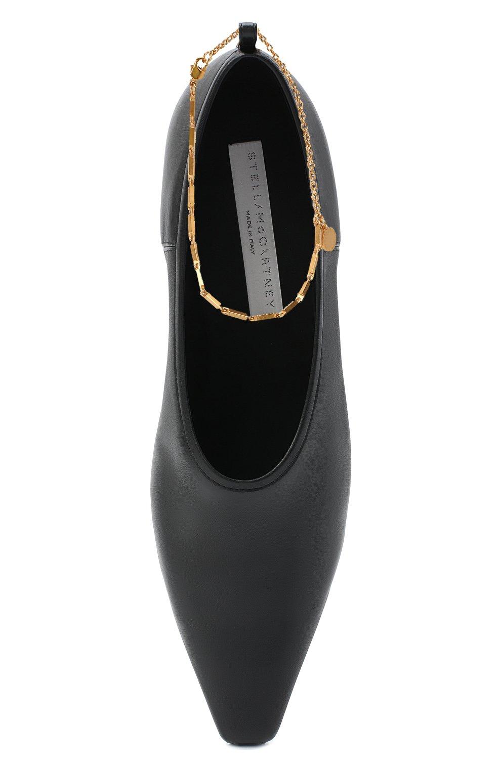 Женские туфли mid heel pump STELLA MCCARTNEY черного цвета, арт. 800227/W0YG0 | Фото 5