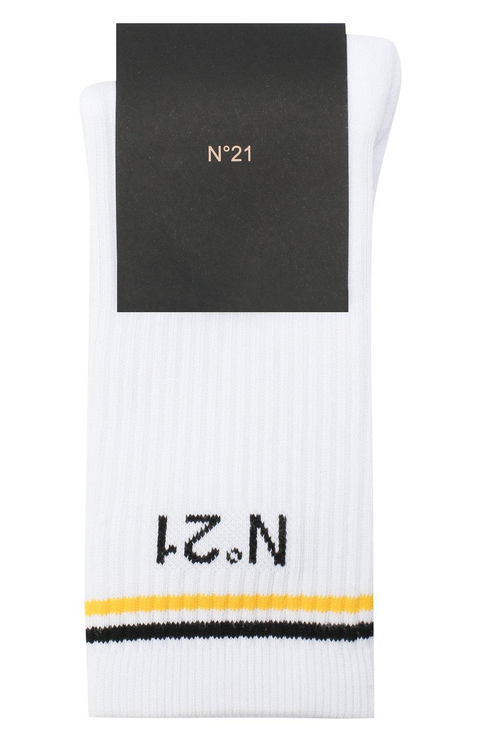 Детские хлопковые носки N21 белого цвета, арт. N214A4/N0027/N21Z4U   Фото 1 (Материал: Текстиль, Хлопок)