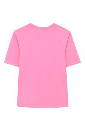 Детская хлопковая футболка GUCCI фуксия цвета, арт. 636574/XJCSX | Фото 2