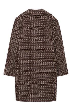 Детское пальто GUCCI коричневого цвета, арт. 616187/XWAJQ | Фото 2