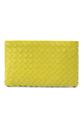 Женские кожаный футляр для документов BOTTEGA VENETA зеленого цвета, арт. 608232/VCPP2 | Фото 1