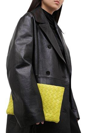 Женские кожаный футляр для документов BOTTEGA VENETA зеленого цвета, арт. 608232/VCPP2 | Фото 2