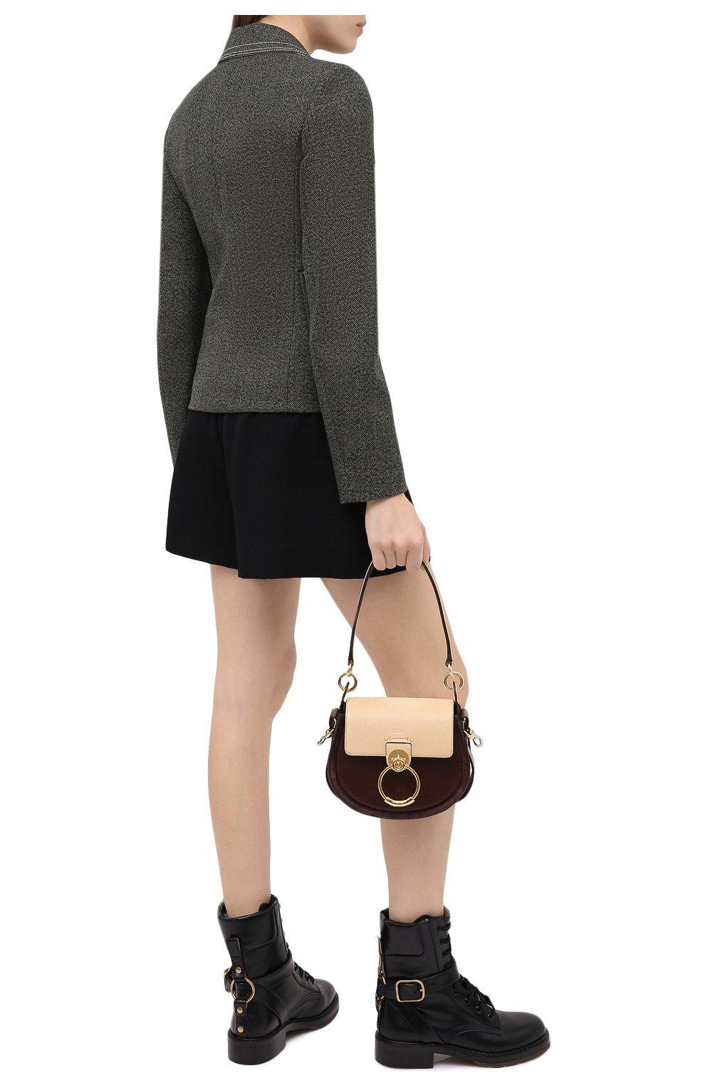 Женские кожаные ботинки diane CHLOÉ черного цвета, арт. CHC20A349L4 | Фото 2