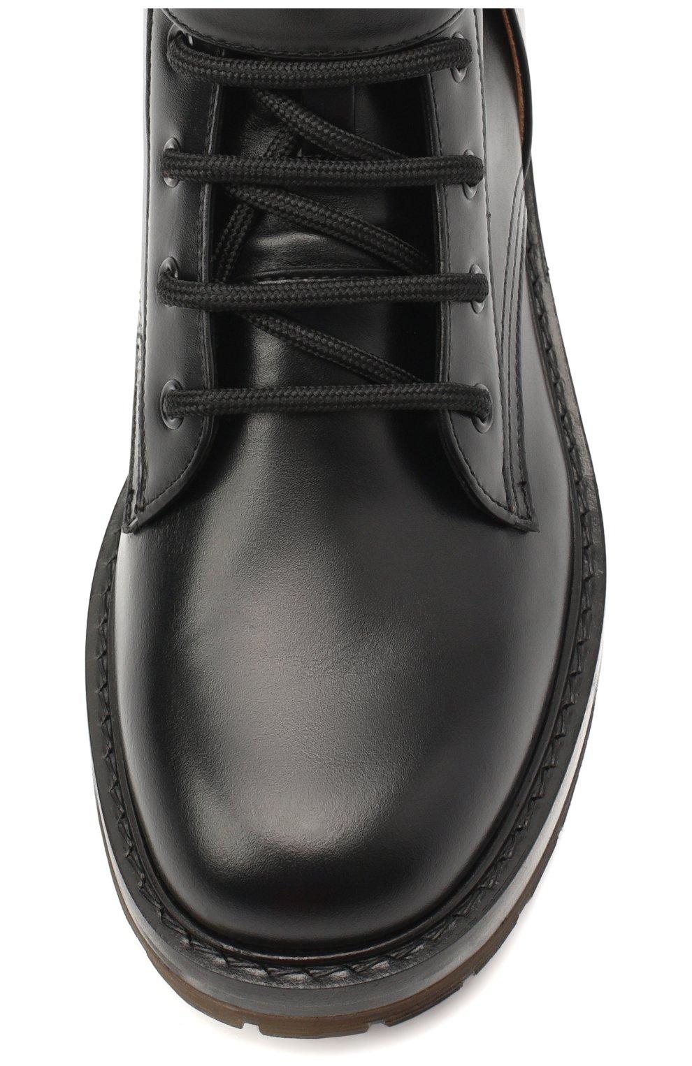 Женские кожаные ботинки diane CHLOÉ черного цвета, арт. CHC20A349L4 | Фото 5
