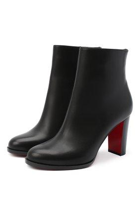 Женские кожаные ботильоны adox 85 CHRISTIAN LOUBOUTIN черного цвета, арт. adox 85 calf/cuoio heel | Фото 1