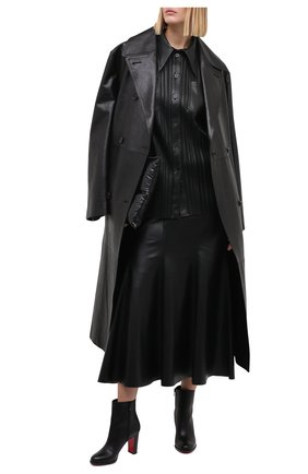 Женские кожаные ботильоны adox 85 CHRISTIAN LOUBOUTIN черного цвета, арт. adox 85 calf/cuoio heel | Фото 2