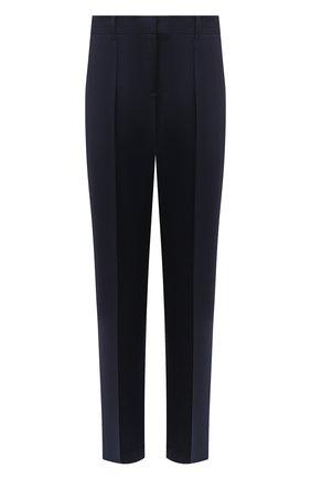 Женские шерстяные брюки LOEWE темно-синего цвета, арт. S359331XBK | Фото 1