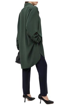 Женские шерстяные брюки LOEWE темно-синего цвета, арт. S359331XBK | Фото 2