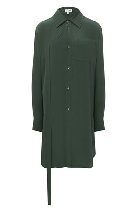 Женская шелковая блузка LOEWE зеленого цвета, арт. S359337XBY | Фото 1