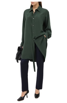 Женская шелковая блузка LOEWE зеленого цвета, арт. S359337XBY | Фото 2