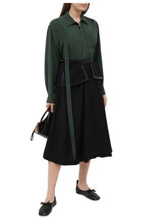 Женская юбка LOEWE черного цвета, арт. S359344XAN | Фото 2