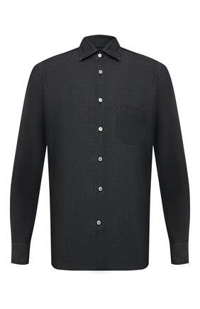 Мужская хлопковая рубашка KITON темно-серого цвета, арт. UMCNERH0741801   Фото 1
