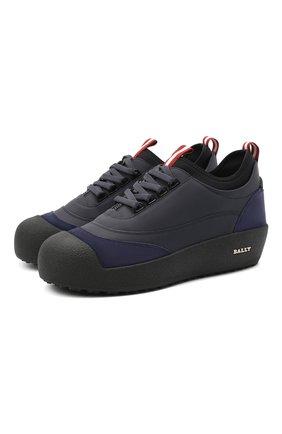 Мужские кожаные ботинки cublon BALLY темно-синего цвета, арт. CUBL0N/106   Фото 1