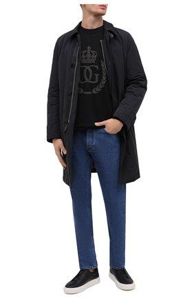 Мужские кожаные кеды SALVATORE FERRAGAMO черного цвета, арт. Z-07197043E | Фото 2