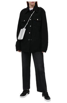 Женские комбинированные кеды portofino DOLCE & GABBANA черного цвета, арт. CK1544/AJ399   Фото 2