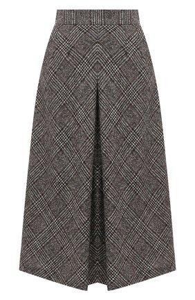 Женская шерстяная юбка DOLCE & GABBANA серого цвета, арт. F4BX1T/FQMIB | Фото 1