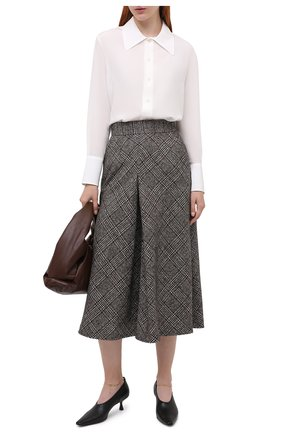 Женская шерстяная юбка DOLCE & GABBANA серого цвета, арт. F4BX1T/FQMIB | Фото 2