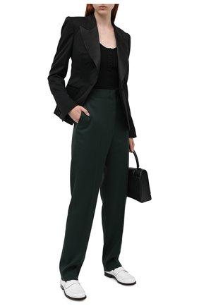 Женский шелковая майка OSCAR DE LA RENTA черного цвета, арт. 20PN105CRB | Фото 2