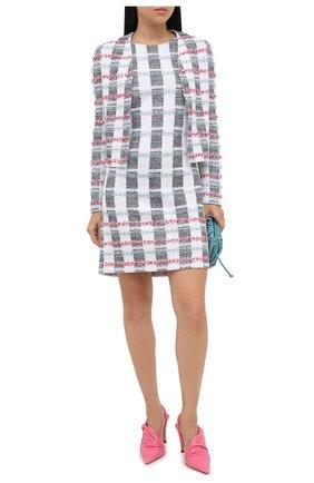 Женское платье из хлопка и шерсти ST. JOHN разноцветного цвета, арт. K1100H2 | Фото 2