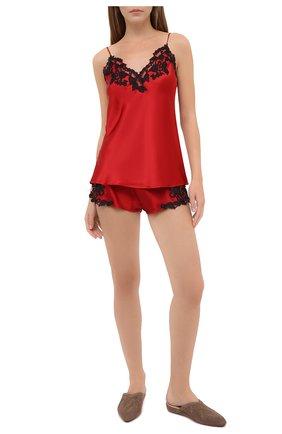 Женские шелковые шорты LA PERLA красного цвета, арт. 0019228/0290 | Фото 2