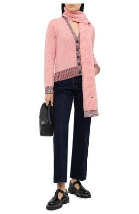 Женский шерстяной кардиган VICTORIA BECKHAM розового цвета, арт. 1320KJU001538A | Фото 2