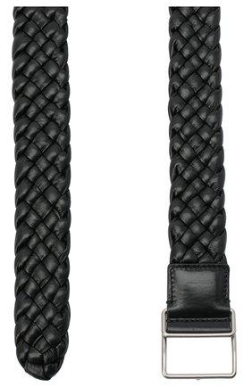 Женский кожаный ремень BOTTEGA VENETA черного цвета, арт. 639288/VCQ71 | Фото 2 (Материал: Кожа)