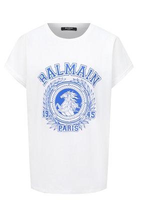 Женская хлопковая футболка BALMAIN разноцветного цвета, арт. UF01351/I589 | Фото 1