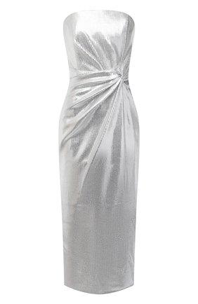 Женское платье 16 ARLINGTON серебряного цвета, арт. D-072-AW20-SLV STRETCH SEQUIN | Фото 1
