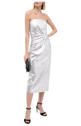 Женское платье 16 ARLINGTON серебряного цвета, арт. D-072-AW20-SLV STRETCH SEQUIN | Фото 2