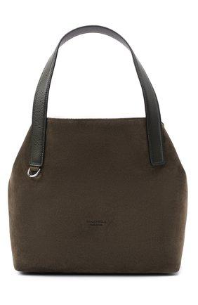 Женская сумка mila suede COCCINELLE зеленого цвета, арт. E1 GE6 11 02 01 | Фото 1