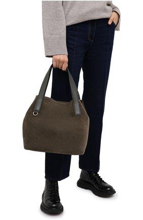 Женская сумка mila suede COCCINELLE зеленого цвета, арт. E1 GE6 11 02 01 | Фото 2